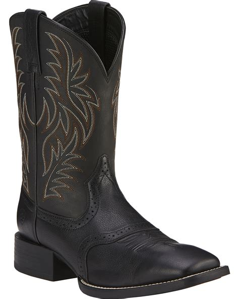 toe cowboy boots for ariat sport western cowboy boots wide square toe