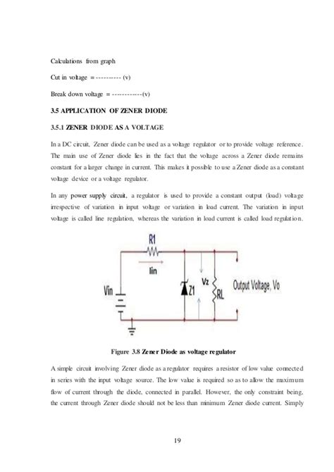 diode characteristics report minor project report on pn junction zener diode led characteristics