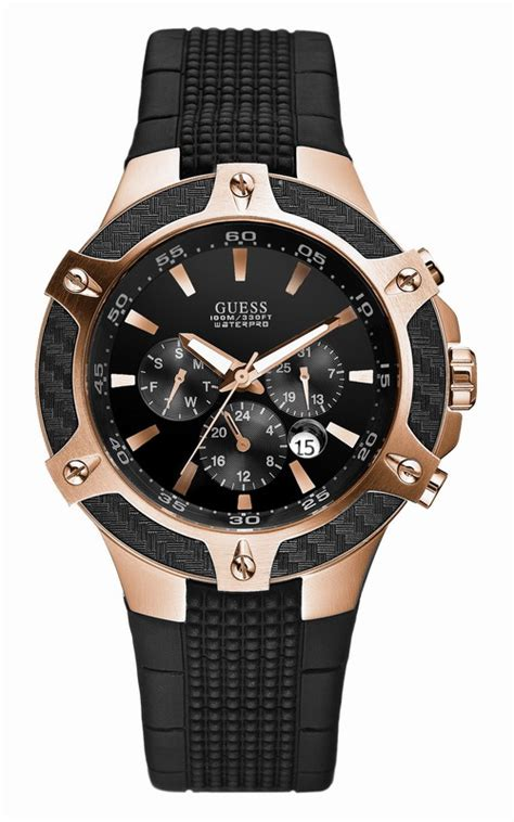 Aigner Alba Rosegold Black Rubber guess w19510g1 watches guess watches at bodying my