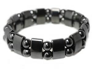 Bracelet en Hmatite Magntique et Boules pierres naturelles   Aromasud