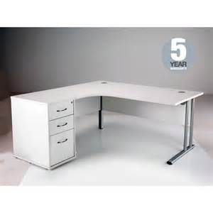 Office Desk White Oslo White Left Corner Office Desks With Fast Delivery