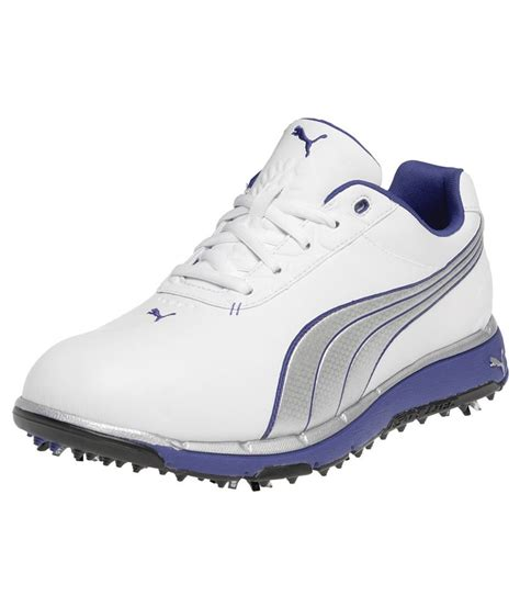 Faas White mens faas trac shoes white silver golfonline