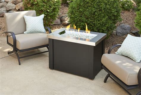 stainless steel firepit stainless steel providence rectangular gas pit table