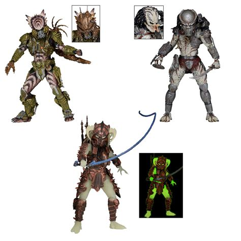 figure 7 inch predator 7 inch scale series 16 figure set