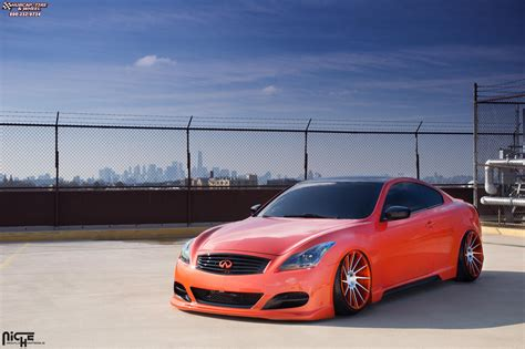 Infinity Black Orange infiniti g37 niche surge wheels brushed infiniti orange