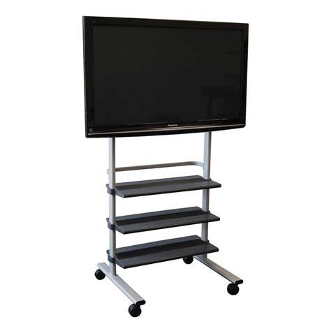 Mobile TV Stand with Wheels for LCD, Plasma or LED Monitor