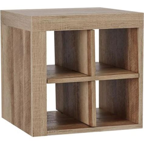 better homes and gardens cube storage shelf quad rustic