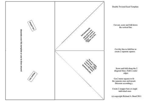 easel box card template 1 twisted easel card card folds