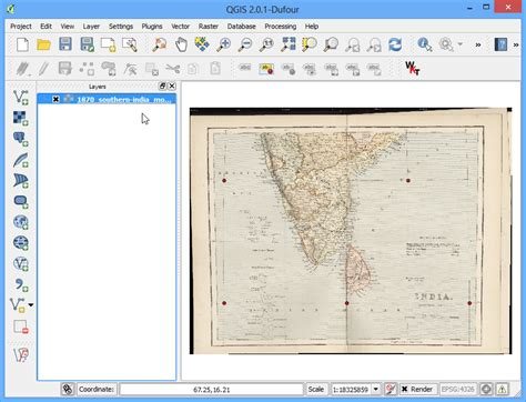 qgis tutorial india georeferencing topo sheets and scanned maps qgis