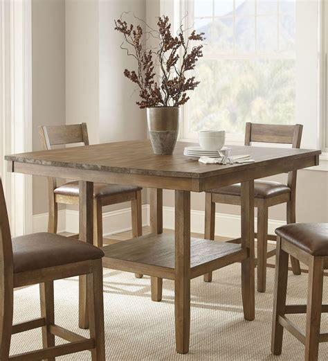 Rustic Counter Height Dining Table Cambrey Rustic Honey Counter Height Dining Table Cb700pt Steve Silver