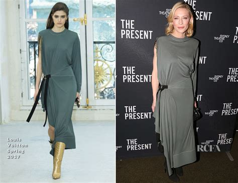 Catwalk To Carpet Cate Blanchett Carpet Style Awards by Cate Blanchett In Louis Vuitton The Present Opening