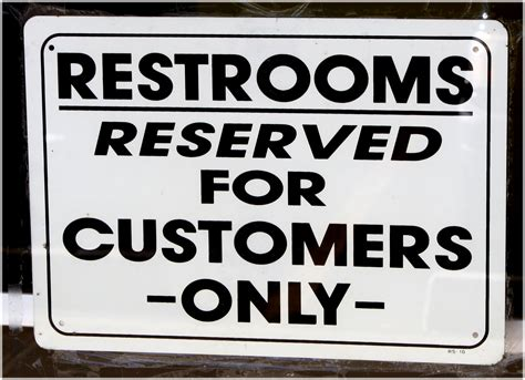 bathroom for customers only sign restrooms for customers only sign picture free