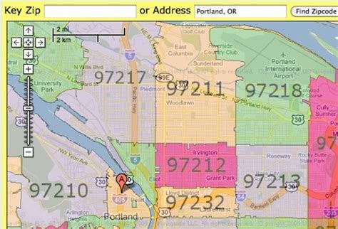 map of portland oregon zip codes find zip codes with this useful map programmableweb