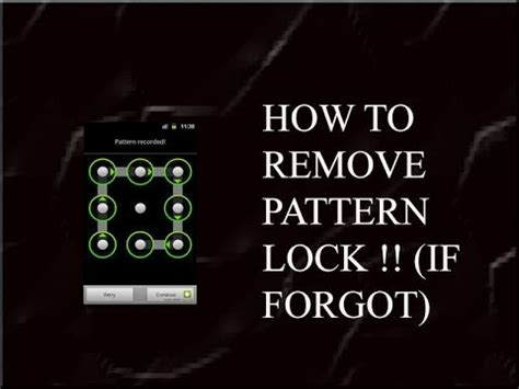 Pattern Password Disable Free Download | how to remove pattern password lock on any android youtube
