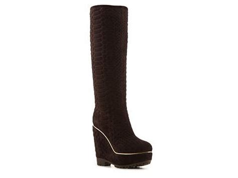 sergio quilted wedge boot dsw