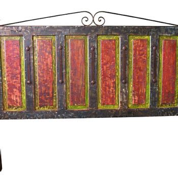 mexican headboard mexican painted wood headboard cottage industry