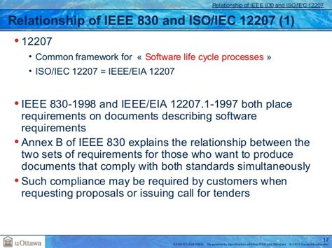 ieee 12207 document templates requirements documentation standards ieee830