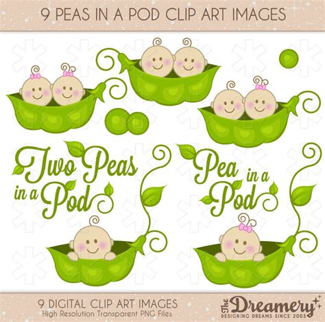 Cherry Blossom Decorations Baby Pea Pod Free Clipart