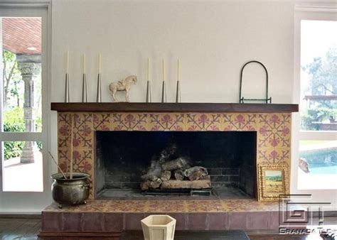 patterned fireplace tiles 74 best images about granada tile in the kitchen on