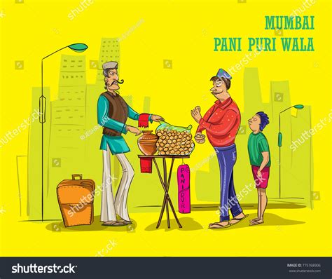 wallpaper cartoon wala mumbai wala illustration vector stock vector 775768906