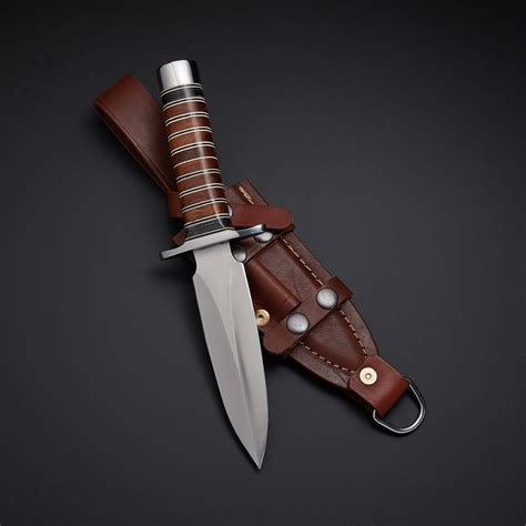 Hand Forged Kitchen Knives D2 Navy Seal Combat Dagger Force Recon Tactical