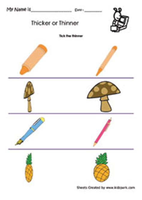 Hindi Nursery Rhymes by Thicker Or Thinner Worksheets Activity Sheets For Kids
