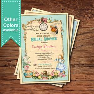 in bridal shower invitation mad hatter tea