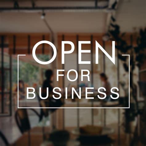 open  business  covid  crisis