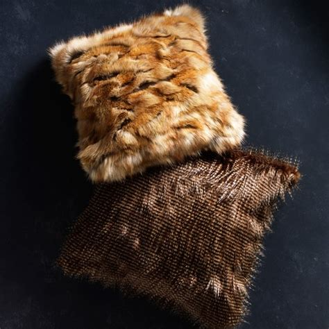 Faux Fur Pillow Cover by Faux Fur Pillow Cover Brown Owl Feather Williams Sonoma