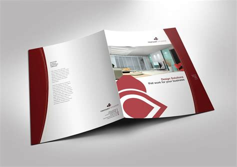 fold brochure template  design company marketing