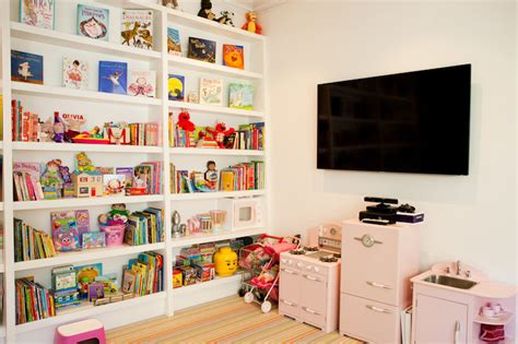 playroom bookshelves transitional s room haus