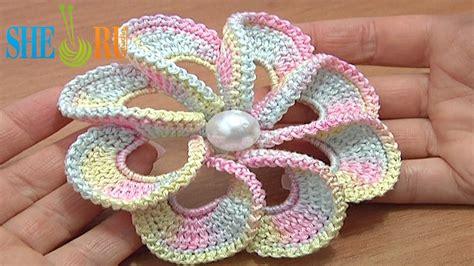crochet pattern free video crochet flower pattern tutorial my crochet