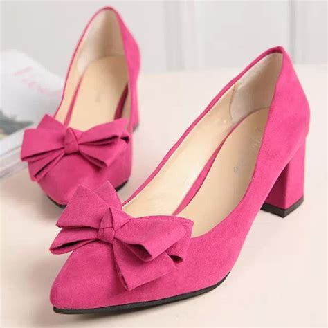 High Heels Korea 336a Tinggi 11 5cm work shoes 5cm high heel all match occupation shoes big bow with coarse pointed korean