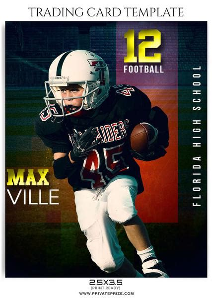 football card template sports trading card