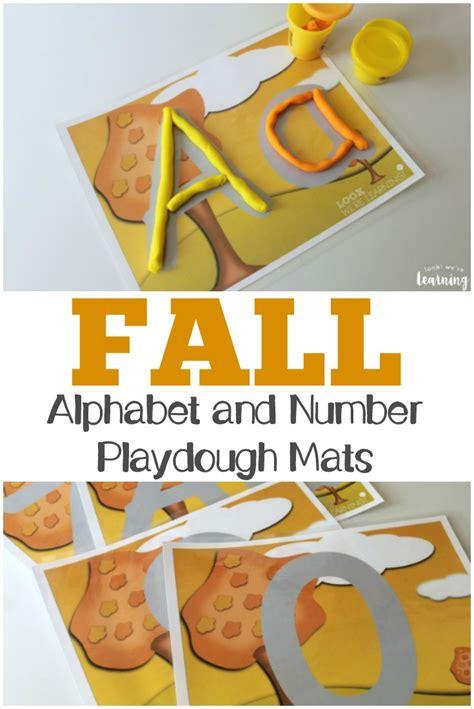 printable fall playdough mats alphabet number fall playdough mats