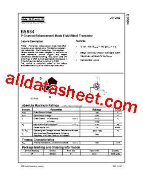 diodes inc bss84 bss84 datasheet pdf fairchild semiconductor