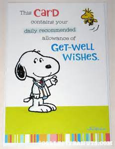Doctor snoopy amp woodstock get well soon greeting card