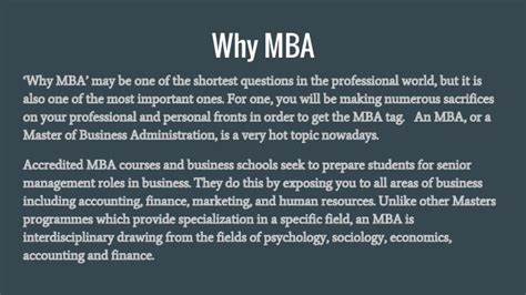 Why To Get A Mba by Why To Choose Mba