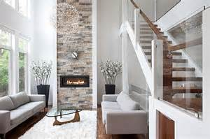 Rectangle Vase Glass Stone Fireplaces Add Warmth And Style To The Modern Home