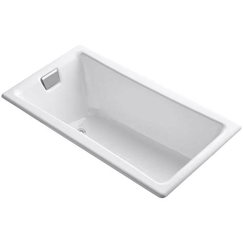 tea for two bathtub kohler tea for two 5 ft reversible drain drop in cast