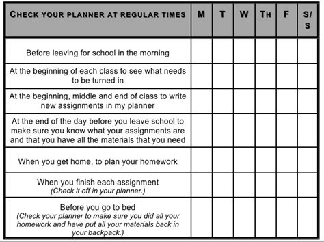 Executive Function Worksheets For Adults by Middle School Students Need Strong Organizational Skills