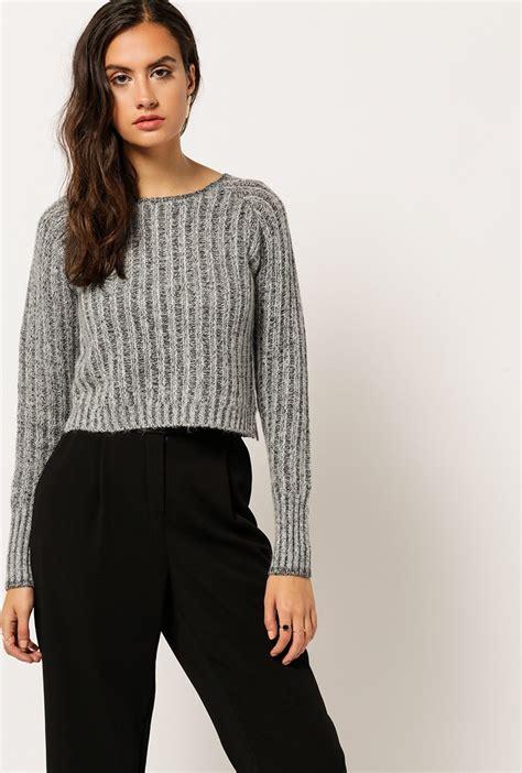 Sf Miumiu Maroon cropped knit sweater sweater