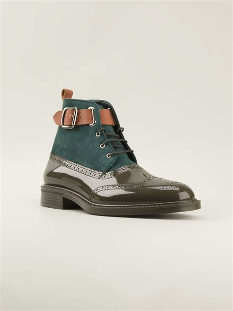 mens vivienne westwood boots vivienne westwood brogue boots in green for brown lyst