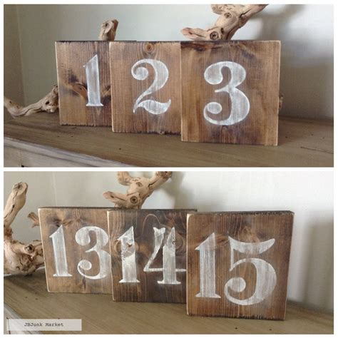 Wooden Table Numbers Wedding by Rustic Wood Table Numbers Table Numbers Wedding Table