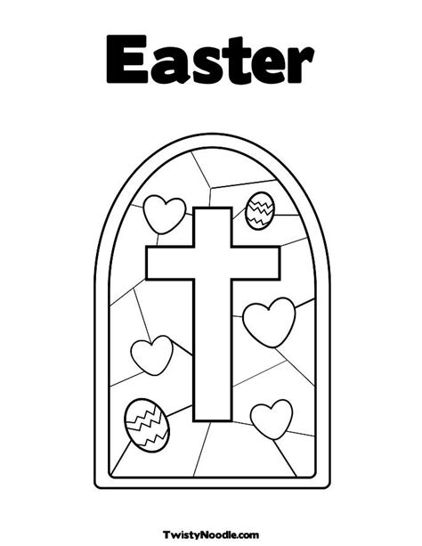 easter story coloring pages for preschoolers stained glass with cross coloring page easter