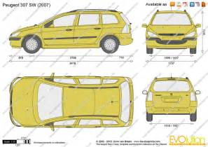Peugeot 307 Dimensions The Blueprints Vector Drawing Peugeot 307 Sw