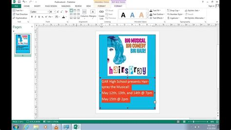 how to create a poster in publisher