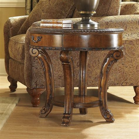 Traditional Coffee Tables And End Tables Furniture World End Table In Warm Pomegranate 43303 2606 Traditional