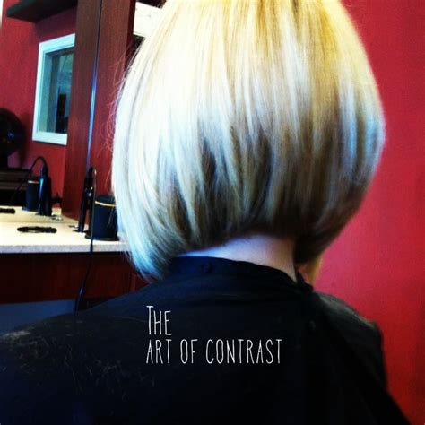 edgy a line haircut edgy a line layered bob with zig zags underlying lowlights