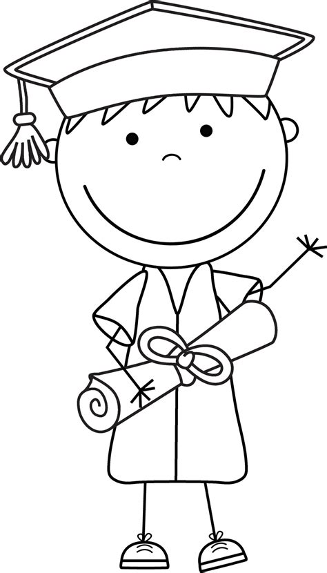 clipart black and white graduation clip black and white